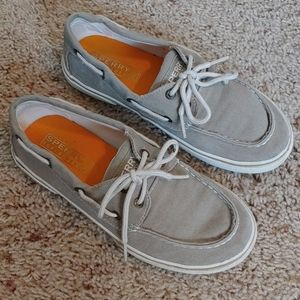 Boy's Canvas Sperry Top Siders - size 2.5M